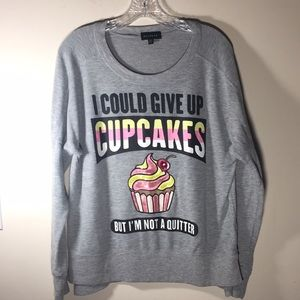 Rampage Sweatshirt Cupcake Oversized XL